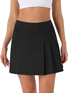 Persit Women's High Waisted Pleated Tennis Skirts Golf Running Workout Athletic Skorts with Pockets and Shorts
