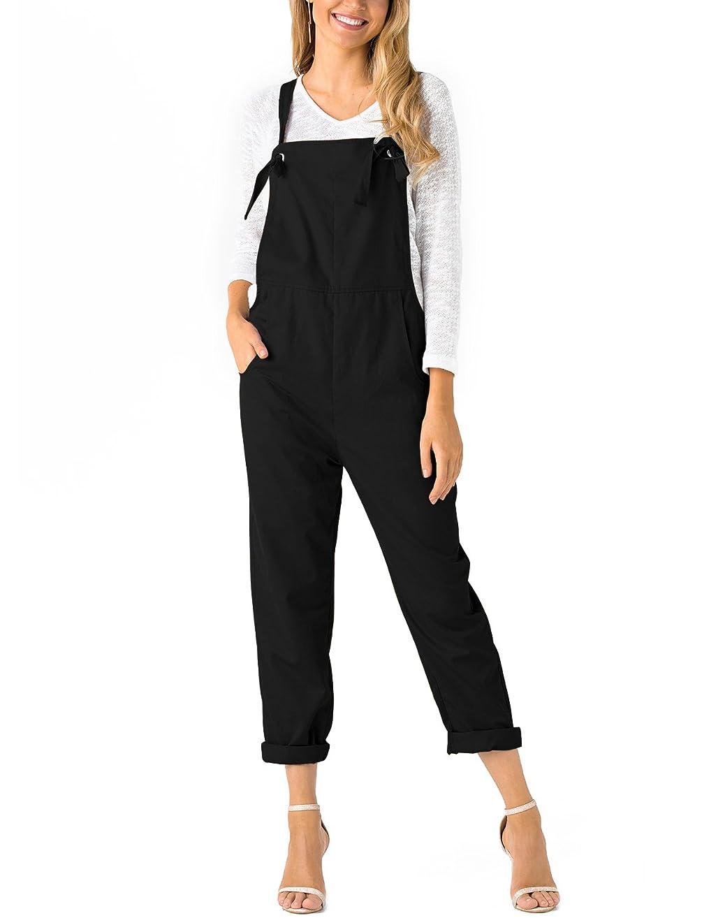 YOINS Women Fashion Overalls Bib Baggy Dungaree Adjustable Strap Romper Jumpsuit