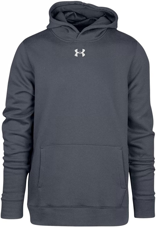 Under Armour Boys' UA Hustle Fleece Hoodie Youth X-Large Gray