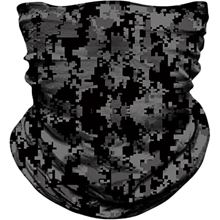 MIRKOO Outdoor Camouflage Face Mask, Breathable Seamless Tube Dust-Proof Windproof UV Protection Motorcycle Bicycle ATV Face Mask for Motorcycling Cycling Hiking Camping Climbing Fishing(OCAMO-345)