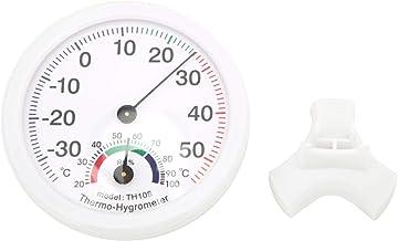 Carcasa de ABS Herramienta de medición de alta precisión Higrómetro Temperatura Medidor de humedad Termómetro conveniente con puntero de alta precisión Restaurante para el hogar(TH108 white)