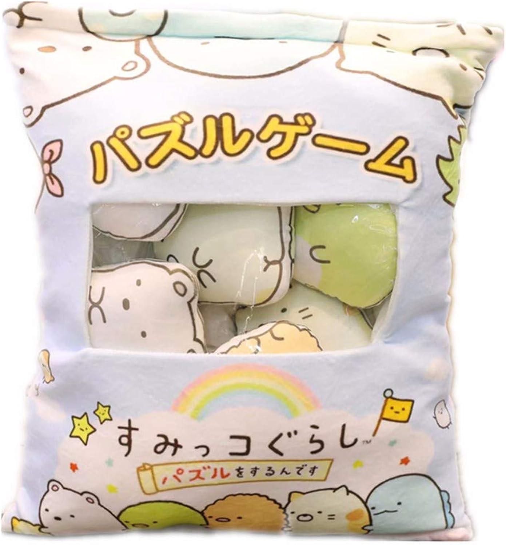 DIEIGEIHAO Cute cartoon corner creature big bag doll pillow plush toy to send girlfriend rag doll birthday gift, 1