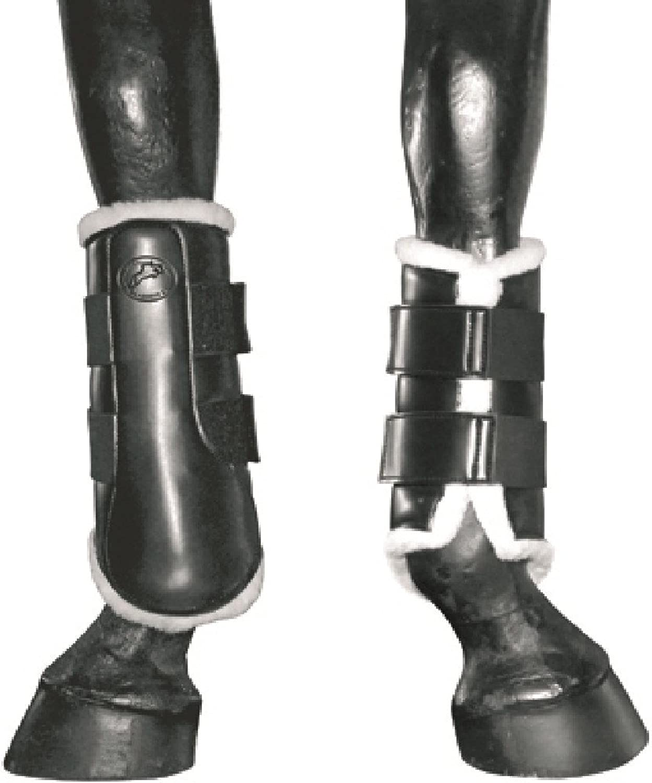 JHL Fleece Lined Horse Boots (Cob) (Black)