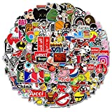 150 Pcs Fashion Brand Stickers,Cool Skateboard Stickers, Waterproof Vinyl Decals Supreme Stickers, for Water Bottle, Skateboard, Skate,Skateboarding, HydroFlask,Teens,(Random Packs of Stickers)