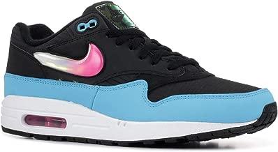 Nike Men's Air Max 1 Black/Laser Fuchsia/Blue Fury CI2450-001