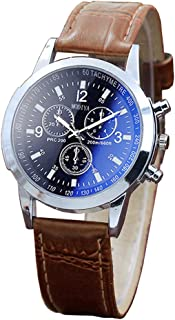 Yeyamei Men's Watches On Sale,Luxury Casual Sport Quartz Wristwatches Leather Watches Fashion Classic Dress Business Analog Wrist Watch Gift for Men