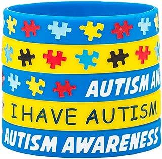 Charmed Craft Set I Have Autism Awareness Bracelets Silicone Sports Wristband Puzzle Pieces Bracelet