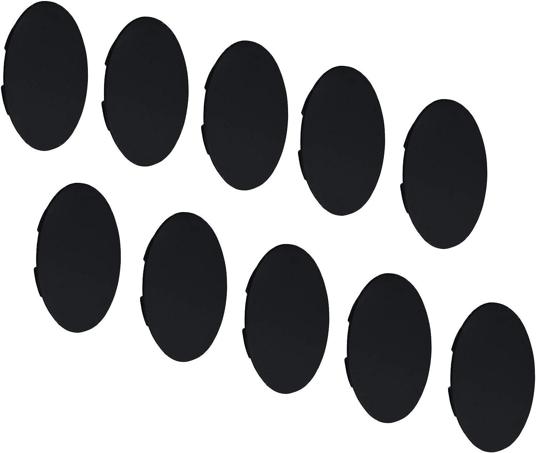 Gedotec Tapones ciegos de tornillos redondos para muebles H1128 de pl/ástico negro para orificio ciego de 35 mm de di/ámetro 10 unidades para muebles y agujeros perforados