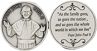 JMJ Products, LLC Pope John Paul II Pocket Coin Token, Finely Engraved