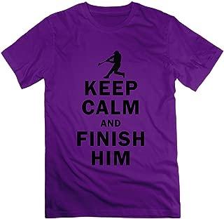 FZLB Men's Keep Calm and Finish Him T-Shirt DeepHeather