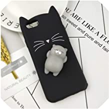 Case for iPhone 4 4S SE 5 5S 5C 6 6S 7 8 Plus X XR XS Max Squishy Cat Cover Mobile Phone Bags,HuXu Clear Cat,for iPhone 7,HuXuBlack,foriPhone5S,HuXuBlackCat,foriPhone7