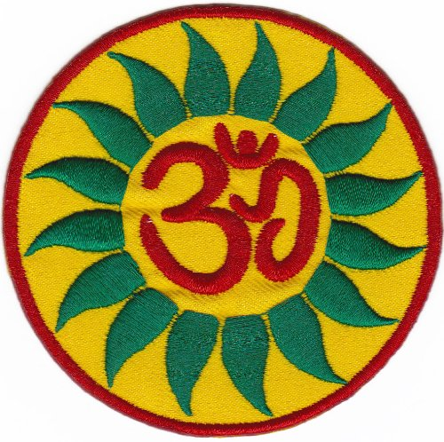 Soleil Inde Népal Yoga Tibet boutons pression Badge/patch CA...... 8.3 x 8.3 cm