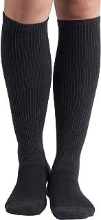 +MD 6Pairs Bamboo Moisture Wicking Compression Socks 8-15 mmHg for Men Knee High Socks 10-13 Grey