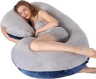 MUMO Pregnancy Pillow C Shaped Full Body Pillow with Velvet Cover Maternity Pillow for Pregnant Women