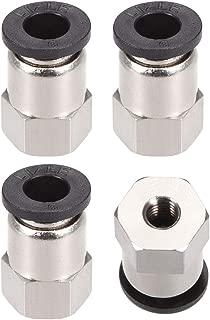 sourcingmap/® 20pcs Racor Junta Enlace Adaptador Conector R/ápido de 1//8 Pt Empuje Rosca Macho de 4mm en Conjuntos Neum/ática de Aire