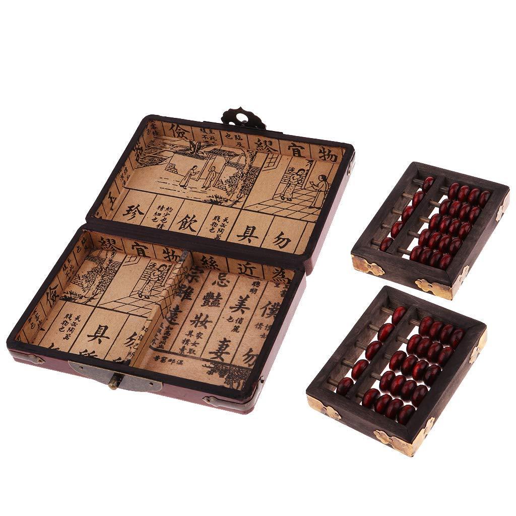 Abacus - Cálculo de madera y math abacus y caja de almacenamiento, 5 dígitos: Amazon.es: Oficina y papelería