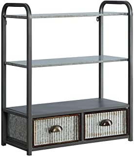 4D Concepts Intek CABINET, Multi textured metal Gray and Galvanized