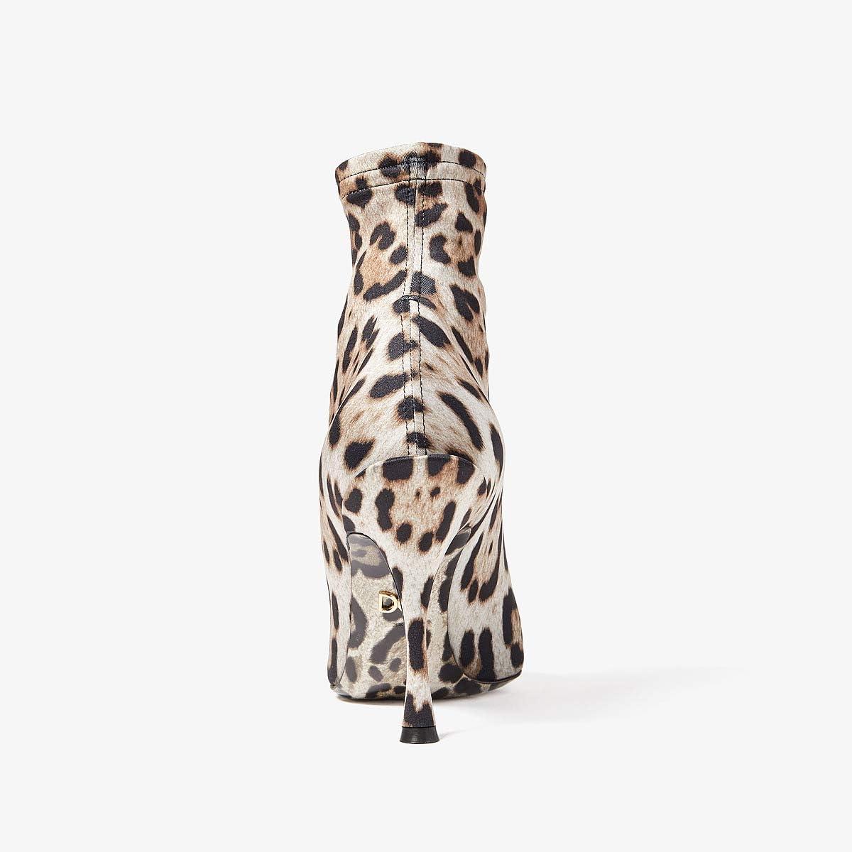 Dolce & Gabbana Jersey Stretch Leopard Bootie | Women's shoes | 2020 Newest