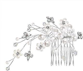 BlingJewelry 贝灵珠宝 仿珍珠水晶新娘发饰镀银