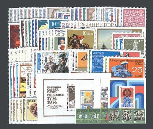 Goldhahn DDR Jahrgang 1974 postfrisch komplett Briefmarken für Sammler