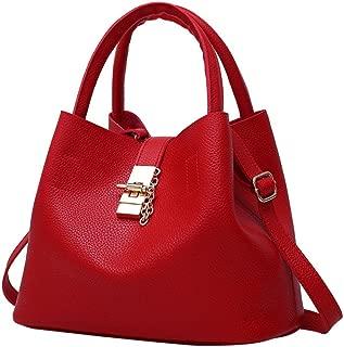 Shoulder Bags,Rakkiss Leather Buns 2Pcs Women's Mother Bag with Handbag Fashion Birthday Present Gifts Handbag