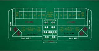 GSE Games & Sports Expert 36x72 Craps Casino Tabletop Felt Layout Mat