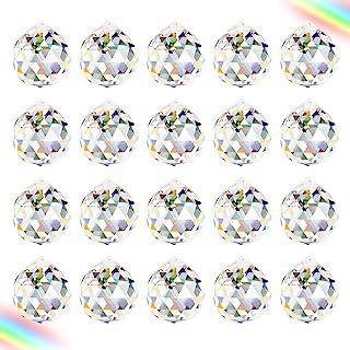 Clear Crystal Ball Prism julgransprydnader 20 PCS K9 Crystal Sun Catchers bollen Garden Ornaments Outdoor Fönster Ljuskron...