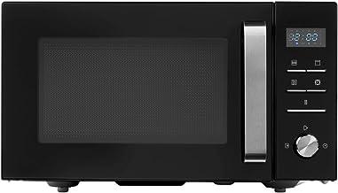 MEDION MD 18043 - Microondas 3 en 1, 900 W, grill de 1000 W, aire caliente de 1950 W, combinación de microondas, grill y horno de 25L, 8 programas automáticos, Negro