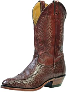 American Boots - Cowboy Exotic (Ostrich) BO-1505-72-EEE (Strong Foot) - Men - Brown
