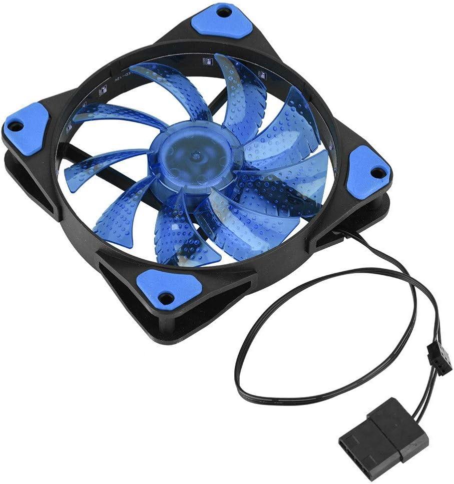 REOUG Cooling Fan 12cm 120mm 15 LEDs Ultra PC C 4pin 3pin Silent Finally Over item handling ☆ popular brand