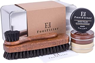 FootFitter Shoe Shine Detailing Set - Complete Shoe Care Set in Gift Tin!