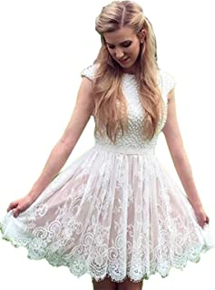 Women's Shortalter Lace Appliqued Prom Party Gown