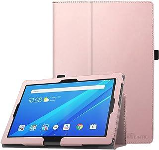 FINTIE Folio Funda para Lenovo Tab4 10 / Tab4 10 Plus - Carcasa de Cuero Sintético de Calidad con Función de Soporte y Auto-Reposo/Activación para 10,1 Pulgadas, Oro Rosa