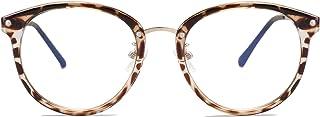 SOJOS Round Anti Blue Light Blocking Glasses Women Computer Eyeglasses Ashley