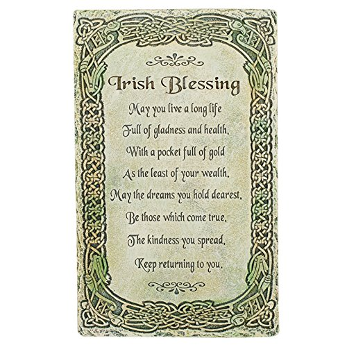 Irish Blessing 'May You Live a Long Life' 8' Wall Plaque