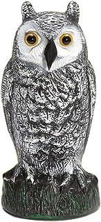 Seihoae Plastic Hunting Fake Owl Crow Decoys Outdoor Garden Yards Ornaments Scarecrow Pest Deterrent Repeller Garden Bird ...