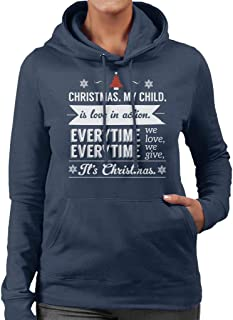 Christmas is Love in Action Dale Evans Rogers Quote Women's Hooded Sweatshirt