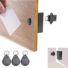 ETEKJOY RFID Electronic Cabinet Lock Hidden DIY for Wooden Drawer Cabinet (Black)
