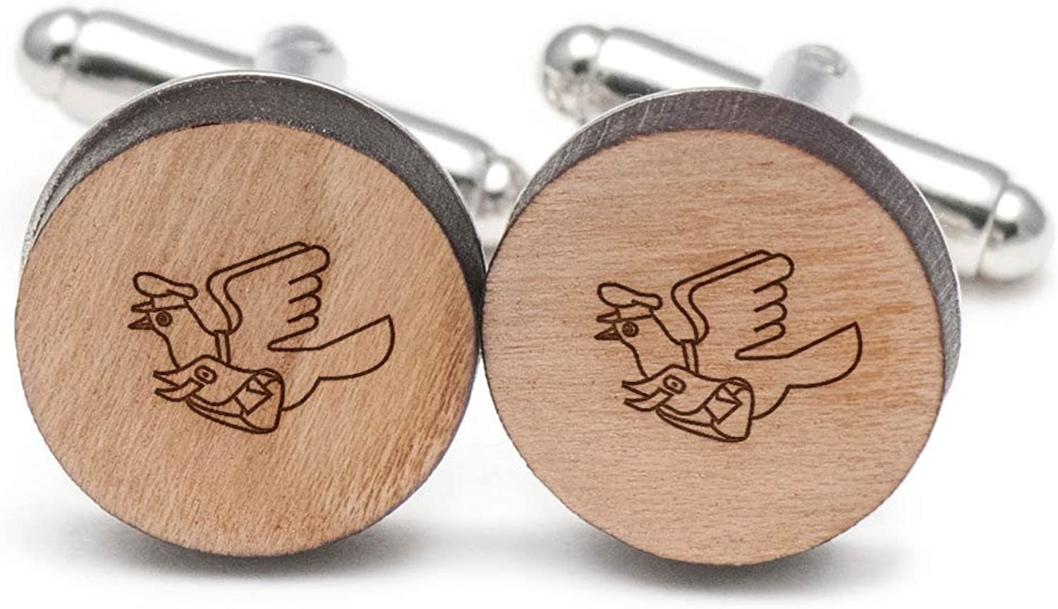 Pigeon Post Cufflinks, Wood Cufflinks Hand Made in the the the USA