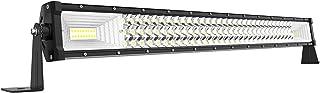 AUTOSAVER88 32 بوصة LED ضوء بار ثلاثي الصفوف أكثر سطوعًا 7D 378W 37800LM Off Road Light No Fog Lens متوافق مع Jeep Truck B...