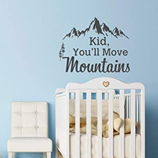 Mountain Vinyl Wall Decal Decor Dr Seuss Quote Kid You'll Move Mountains Kids Vinyl Wall Decal Decor Baby Nursery Children Vinyl Wall Art Sayings Made in USA