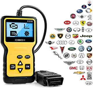 ATDIAG OBD2 Scanner,Car Code Reader Enhanced Universal Car Engine Fault Code Reader, OBD Scanner CAN Diagnostic Scan Tool for All OBD II Protocol Cars Since 1996