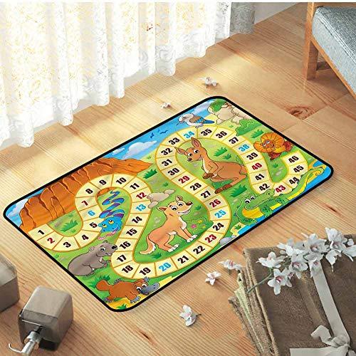 Pet mat, for Bedroom Floor Pet mat Luxury Carpets for Home, Board Game Australia Fun Wildlife - W19 x L31