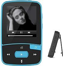 XWWS MP3 Player, Sports Music Player Bluetooth Mini MP3 Music Player with Clip Screen Support FM Radio, Recording, E-Book,... photo