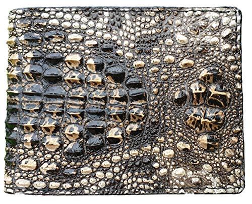 HATA Men Alligator Leather Bifold Wallet Handmade Crocodile Hornback RFID Blocking VINAM-05