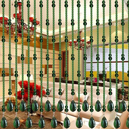 H&Y Glasperlenvorhang Schlafzimmer Cucurbit partition Wohnzimmer kristall Gang küche idyllische hochzeitsdekoration Feng Shui Glas Vorhang 20 stücke (Grün,Eine Probe)