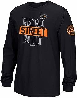 Reebok Philadelphia Flyers NHL Black 2017 Stadium Series Broad Street Build Long Sleeve T-Shirt for Men