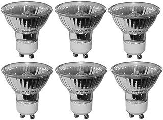 Pack of 6 20 Watt MR16 GU10 Turn Lock Base Halogen Bulb 120 Volt 20w GU10 Halogen Light Bulb