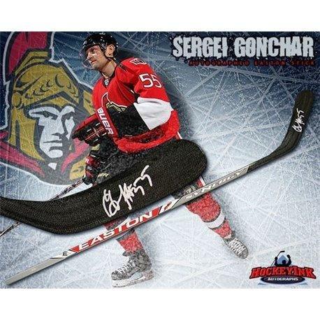 Sergei Gonchar Autographed Stick - Ottawa Senators Easton Model - Autographed NHL Sticks