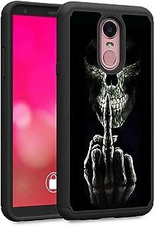 LG Stylo 4 Case, LG Stylo 4 Plus Case, LG Q Stylus Case, Rossy Heavy Duty Hybrid TPU Plastic Dual Layer Armor Defender Protection Case Cover for LG Stylo 4,Fuck You Skulls